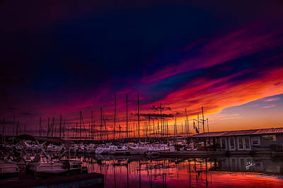 Photograph - Marina Sunset by TK Goforth