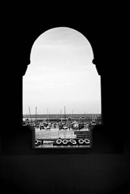 Photograph - Marina Through The Window by Mez