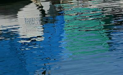 Photograph - Marina Water Abstract 1 by Fraida Gutovich