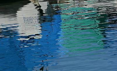 Photograph - Marina Water Abstract 1 by Fraida Gutovich