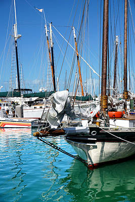 Marinas And Masts  Art Print
