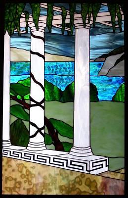 Marina's Terrace Art Print by Barbara Harris