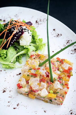 Photograph - Marinated Raw Tuna Tartare With Spicy Tropical Mango Lime Sauce by Jacek Malipan