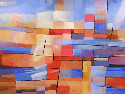 Painting - Marine Colorfields by Lutz Baar