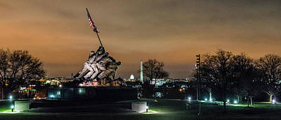 Photograph - Marine Corp War Memorial, Dc by T Brian Jones