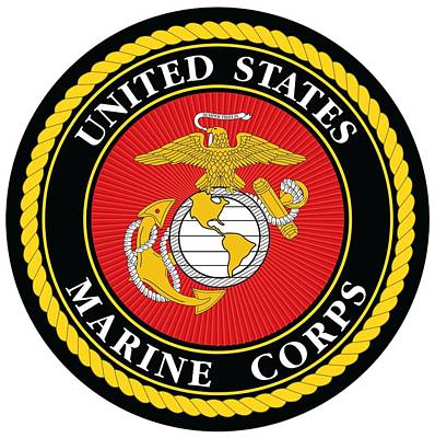 Digital Art - Marine Corps Seal by Ted Kole