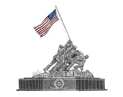 Marine Corps War Memorial - Iwo Jima Art Print