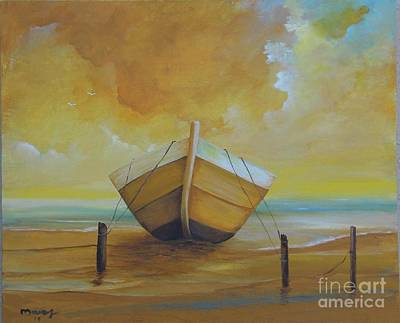 Painting - Marine Golden Boat  by Alicia Maury