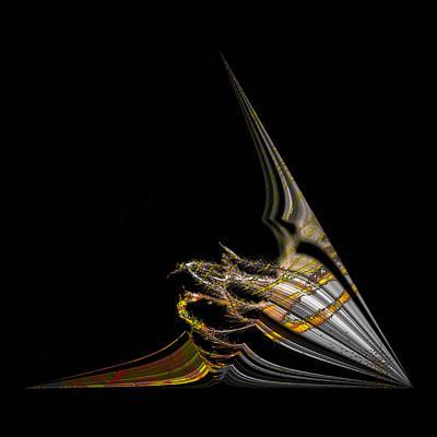 Art Print featuring the digital art Marine Life Abstrat1 by Irma BACKELANT GALLERIES