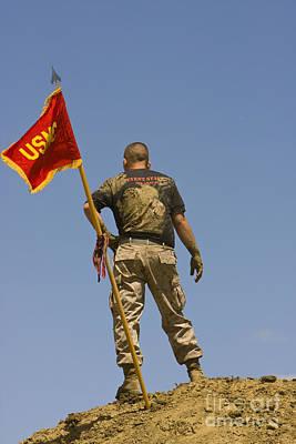 Marine On A Hill Original