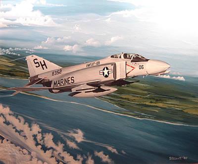 Marine Phantom Art Print by Marc Stewart