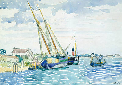 Drawing - Marine Scene  by Henri-Edmond Cross