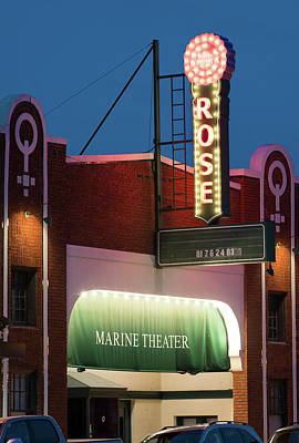 Photograph - Marine Theater 040317 by Rospotte Photography