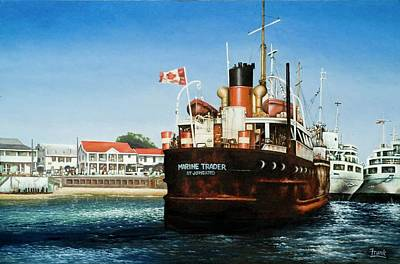 Art Print featuring the painting Marine Trader by Michael Frank