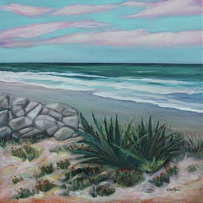 Sand Dunes Painting - Marineland Cove by Eve  Wheeler