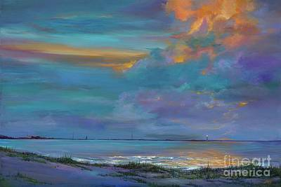 Cape Florida Lighthouse Painting - Mariners Beacon by AnnaJo Vahle