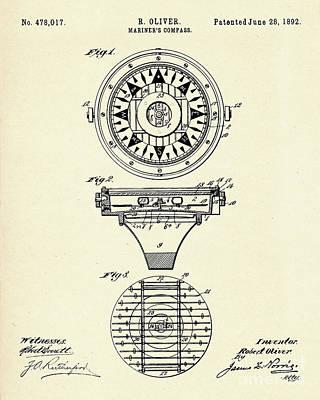 Mariner Painting - Mariner's Compass-1892 by Pablo Romero