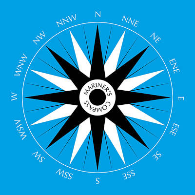 Beach Drawings - Mariners Compass by Frank Tschakert
