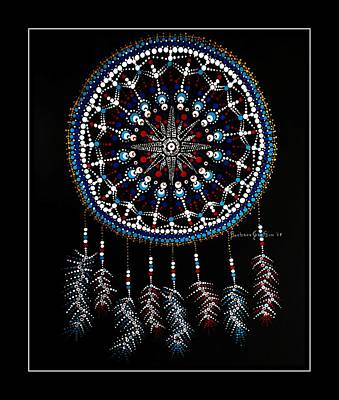 Painting - Mariner's Dream Catcher 2 With Border by Barbara Griffin