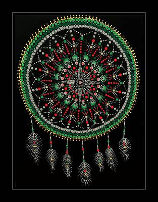 Painting - Mariner's Dream Catcher Green by Barbara Griffin
