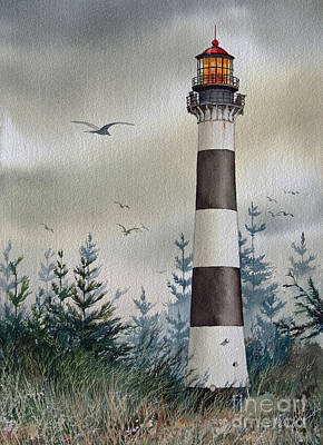 Cape Kennedy Painting - Mariners Guiding Light by James Williamson