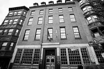 mariners house historic hotel north square Boston USA Art Print