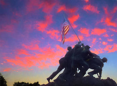 Marines At Dawn Art Print by JC Findley