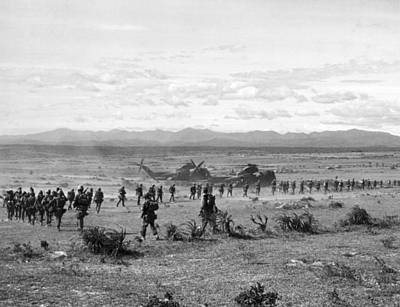 Hastings Photograph - Marines At Operation Hastings by Underwood Archives