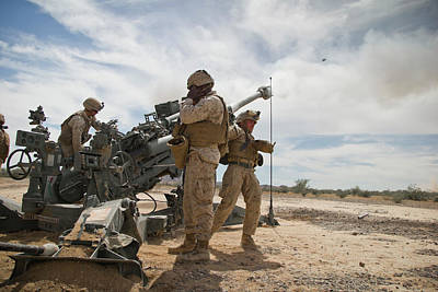 Photograph - Marines Provide Supporting Fire During Assault Support Tactics by Paul Fearn