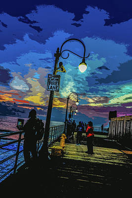 Marine's Silhouette  Art Print