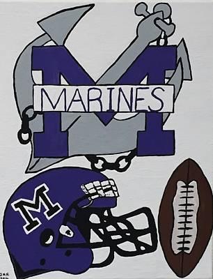 Marinette Marines. Art Print