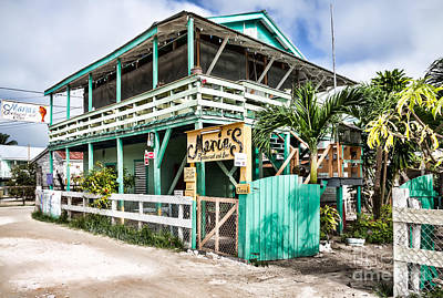 Photograph - Marin's On Caye Caulker by Lawrence Burry
