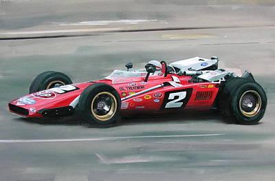 Mario Andretti Indy 500 Winner Art Print