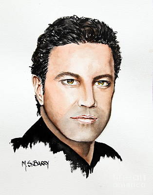 Painting - Mario Frangoulis by Maria Barry
