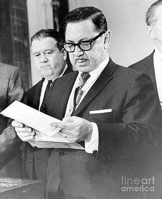 Mario Procaccino Reads One Of The Serial Bonds In His Office. 1966 Art Print