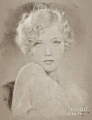 Musicians Drawings Rights Managed Images - Marion Davies, Vintage Actress Royalty-Free Image by Esoterica Art Agency