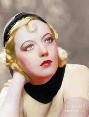 Painting - Marion Davies, Vintage Movie Star by John Springfield