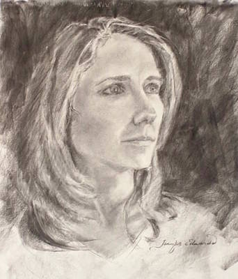 Jennifer Edwards Drawing - Marion Gagan Kovach by Jennifer Edwards