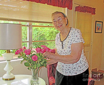 Photograph - Marion Loves Roses by Fred Jinkins