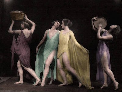 Photograph - Marion Morgan Dancers Colorized by Robert G Kernodle