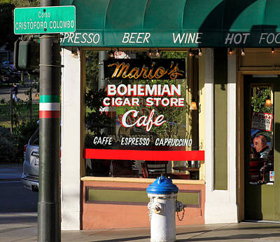 Photograph - Mario's Bohemian Cigar Store Cafe by Bonnie Follett