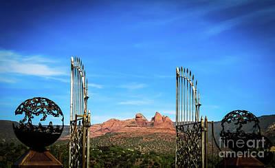 Grill Gate Photograph - Mariposa's Gate - Sedona by Stephanie Forrer-Harbridge