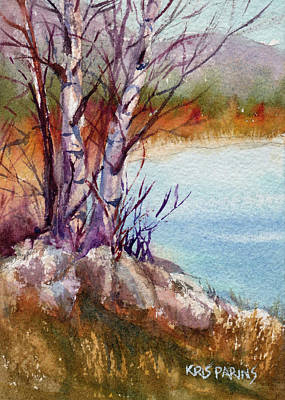 Painting - Mari's Birches by Kris Parins