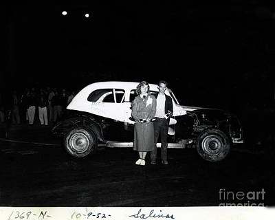 Photograph - Maris Special,  Salinas Speedway October 9, 1952 by California Views Mr Pat Hathaway Archives