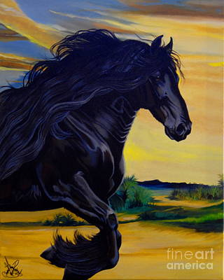 Painting - Friesian Paradise by Cheryl Poland