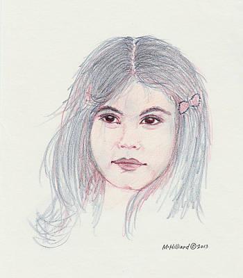 Drawing - Marissa by Marilyn Hilliard
