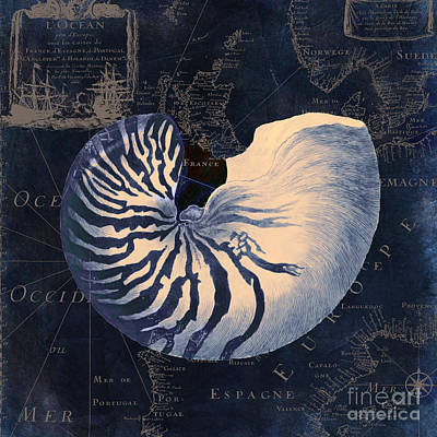Maritime Blues  Art Print by Mindy Sommers