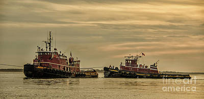 Photograph - Maritime Tug Boats by Dale Powell
