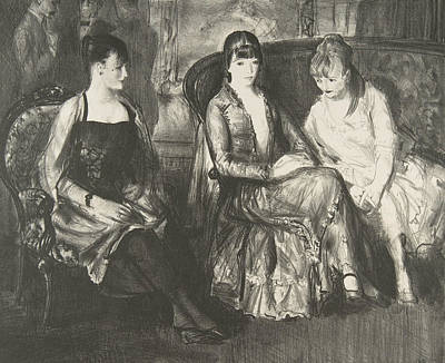 Relief - Marjorie, Emma And Elsie by George Bellows