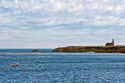 Mark Abbot Memorial Lighthouse - Lighthouse On The Beach - Santa Cruz Ca Usa Print by Christine Till